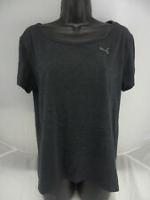 Puma Ladies' Keyhole Tee Charcoal US Size S NWT