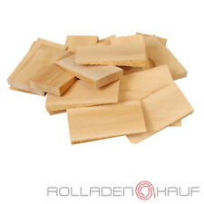25 Holz Keile Hartholzkeile Montagekeile Buchenholz natur Fenster Türstopper
