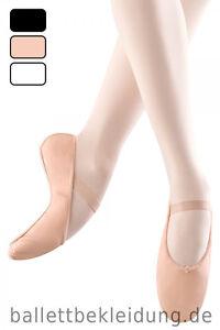 Ballettschläppchen Leder BLOCH Arise Ballettschuhe schwarz weiß rosa