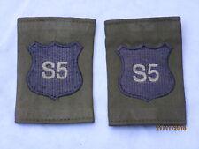DISTINTIVO DI GRADO : Royal Militare Academy Sandhurst, rmas , blu su OLIVA, (S5