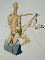 Dali Salvador: Hölle 5 - Minos - Holz Graviert Original, Göttliche Komödie, 1960