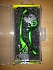 KAWASAKI  KXF 250  KXF 450  2004-2012  FLEXI FLEXIBLE LEVER LEVERS SET GREEN