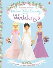 Weddings Sticker Dolly Dressing ~ Usborne 537852 ~ NEW with reusable stickers!