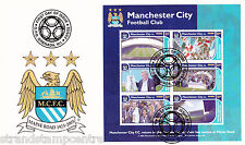 Manchester City - Premiership Football Commemorative Stamp Sheet from Grenada
