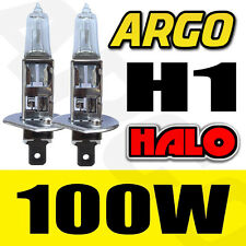 2X CLEAR H1 100W HALOGEN CAR DRIVING HEADLIGHT FOG LIGHT BULBS 12V REPLACEMENT
