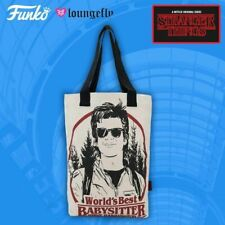 SDCC 2018 Loungefly Stranger Things Babysitter Steve Canvas Tote! LE 500! NEW