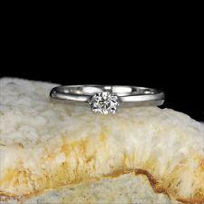 14k white gold ring, 20pts brilliant-cut genuine diamond VVS/H-I rings M-F