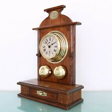 CARL MAYER PETER Alarm UNUSUAL HUGE! TOP Clock in Cabinet Antique Mantel Germany