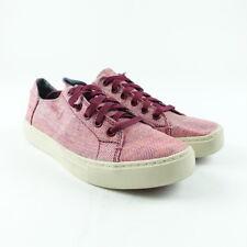 TOMS Women's Size 6 Lenox Red Pomegranate Suede Shoes Lace