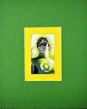 GREEN LANTERN PRINT PROFESSIONALLY MATTED Ross art