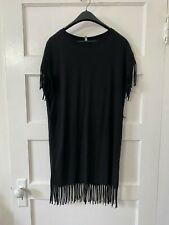 & Other Stories Black Fringe TShirt-Dress