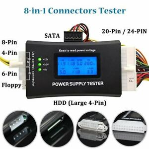 idrop Power Supply Tester IV - PC CPU Checker 20/24 PIN 4P / 8P / 6P SATA HDD In