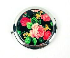 Compact Portable Pocket Mirror floral roses Makeup compact