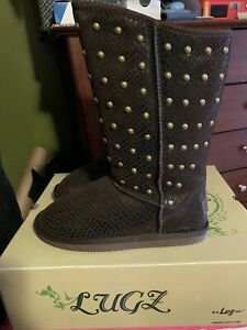 Lugz Kimi Slip On  Womens  Boots   Mid Calf  - Brown