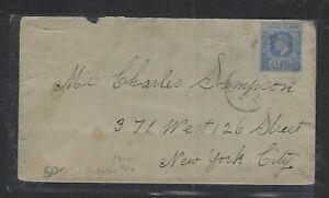 LEEWARD ISLANDS  (P2102B)  1912 KE  2 1/2D  SINGLE FRANK TO USA