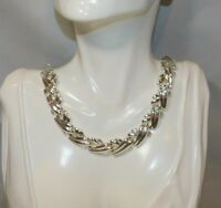 """Vintage Beautiful NAPIER Signed Silver Tone 16"""" Necklace 12A 98"""