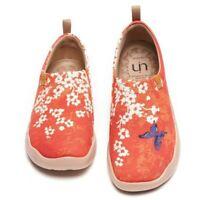 UIN Women Shoes Loafer Casual Sakura Artistic Canvas Travel Slip-On Fun Comfort