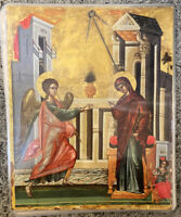 "The Annunciation 14x11"" Laminated Greek Orthodox Icon #2"