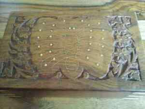 Sheesham Wood Tarot Card Box  with butterfly carving or Floral patterned