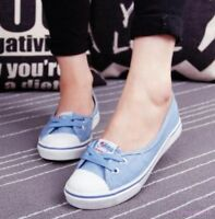 Womens Low Top Casual Sneakers Running Breathable Shoes Lace Up Flats Canvas Hot