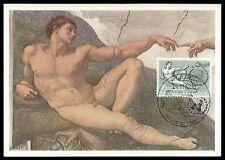 BELGIEN MK 1962 UNO UN MENSCHENRECHTE ADAM MICHELANGELO MAXIMUM CARD MC CM cf35