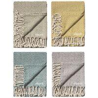 ⭐ Diamond Cotton Sofa Settee Arm Chair Bedspread Blanket Throw 125 x 150cm