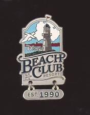 DISNEY PIN WDW Beach Club Resort Hotel Lighthouse Dangle Est.1990 Pin RETIRED
