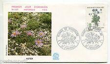 FRANCE FDC 1° jour , 1983, timbre 2268, FLEURS, ASTER, FLORE