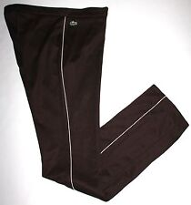 Lacoste Sport Women's Brown Zip Front Athletic Lounge Pants Size 40; US 6/8? EUC