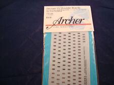 ARCHER FINE TRANSFERS GERMAN SS SHOULDER BOARDS ART & STUG FG35043C 1:35 NEW