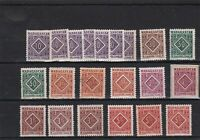 madagascar mounted mint and used postage due  stamps ref r11687