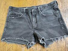 Gap Denim Slim Shorts Sz 29 Cutoff Black