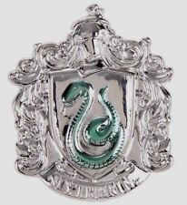 HARRY POTTER SLYTHERIN CREST SHIELD PEWTER PIN DOUBLES AS A NECKLACE PENDANT NEW