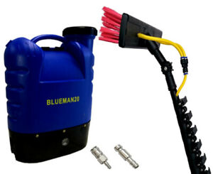 Window Cleaning System - 35 Ft Telescopic Water Fed Pole/Brush & Backpack