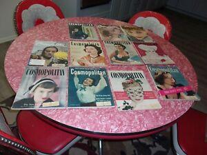 Lot Of 11 Cosmopolitan magazines 1951  1952  1953 neat ads