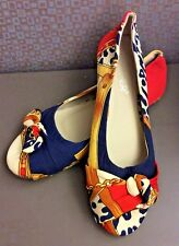 Bumper Flats Shoes Jewelry & Abstract Design Bow Toe Size Woman US 7