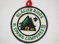 Boy Scouts America BSA Glacier Ridge Spring Camporee Cloth Patch 1980