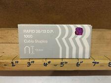 Rapesco rápido 12mm Cable 1000 Grapas ref 36/12