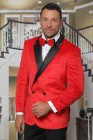 Mens INSOMNIA MANZINI RED VELVET Jacket ENTERTAINER PERFORMER MUSICIANS MZV-513