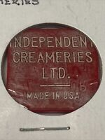 Token Independent Creameries Ltd. 1 Quart Milk Dairy Coin Token P20