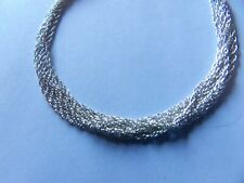 EQUISITE BNWT STERLING SILVER 8 STRAND CHAIN BRACELET VALENTINES GIFT? YASH415