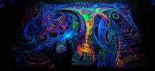 UV Backdrop Microcosm Psy Deko Wandbehang 1,5m x 2,25m Hippie Goa Tuch Kunst