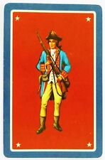 SWAP CARD. 1770s AMERICAN REVOLUTION SOLDIER IN UNIFORM. UNITED STATES HISTORY