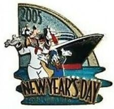 Disney Pin: DIsney Cruise Line DCL New Year's Day 2005 (Goofy & Donald) LE 1000