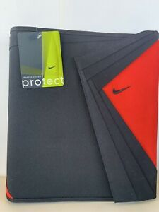 RARE  NIKE Swoosh Trapper Keeper. New With Tags Protect. Red Black Nike Folders