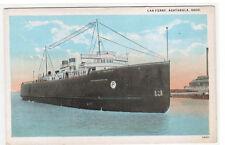 Steamer Ashtabula Car Ferry Ashtabula Ohio 1920s postcard