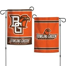 """Bowling Green Falcons 2 Sided Garden Flag 12""""X18"""" Yard Banner Ncaa Licensed"""