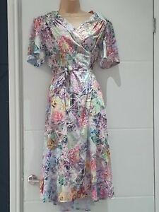 Size 16 Colourful Floral AFIBEL dress shoulder pads