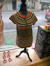 robe courte kaki orange  sans manche  taille38 propre