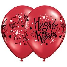 Party Supplies Wedding Love  Love You Hugs & Kisses Latex Balloons Pack of 10